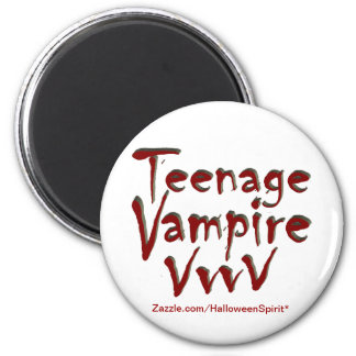 Teenage Vampire with Fangs 6 Cm Round Magnet