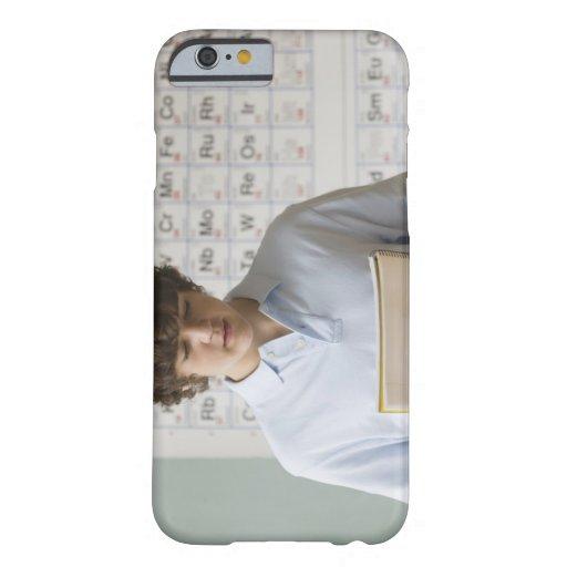 Teenaged boy giving speech in science class iPhone 6 case