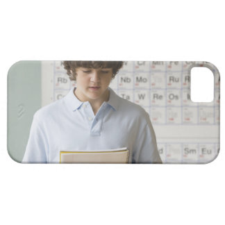 Teenaged boy giving speech in science class case for the iPhone 5