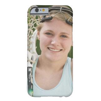 Teenaged girl holding lacrosse racket iPhone 6 case