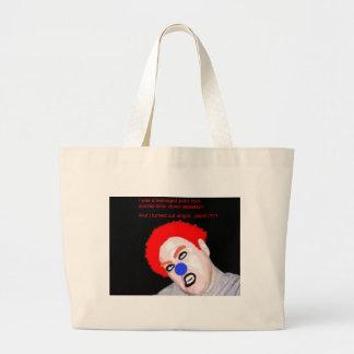 Teenaged Punk Rock Zombie Clown Canvas Bag