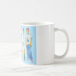 Teenager illustrations design basic white mug