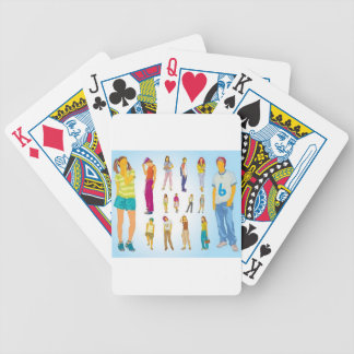 Teenager illustrations design bicycle poker cards