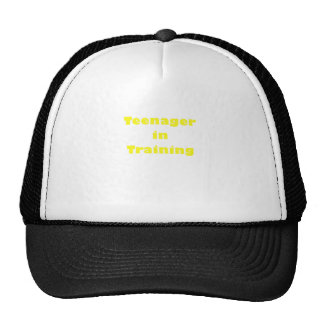 Teenager in Training Hat