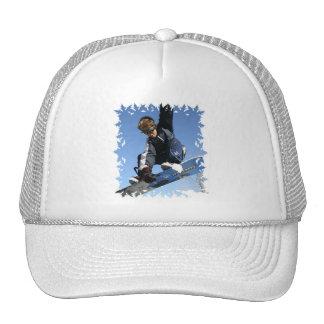 Teenager Snowboarding Baseball Hat
