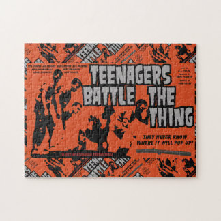 Teenagers Battle The Thing Jigsaw Puzzle