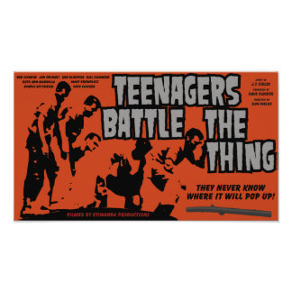 Teenagers Battle The Thing Movie Poster