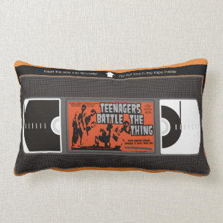 Teenagers Battle the Thing VHS Lumbar Pillow