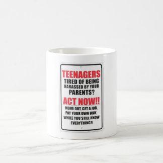 TEENAGERS! BASIC WHITE MUG