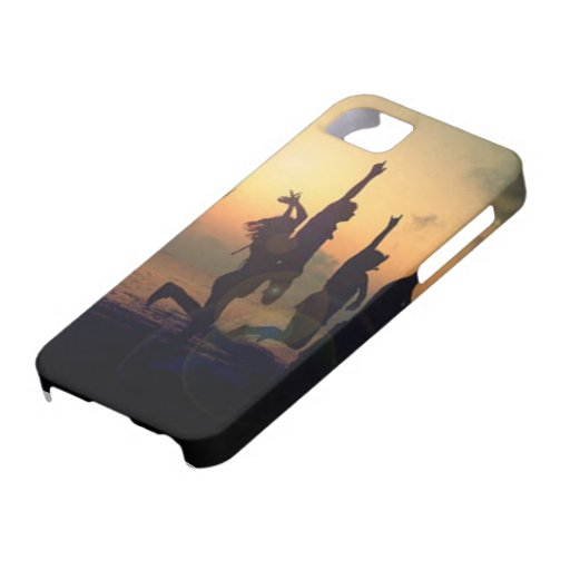 Teenagers Silhouette Iphone 5 phone case Case For iPhone 5/5S