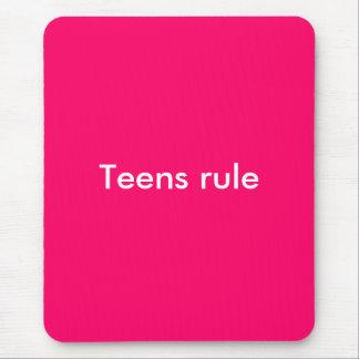 Teens rule mouse pad