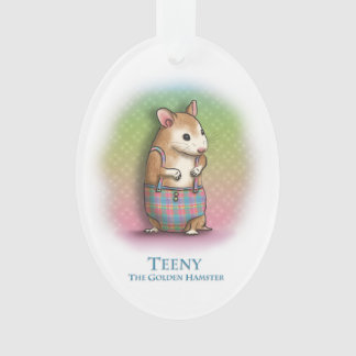 Teeny The Golden Hamster - Ornament