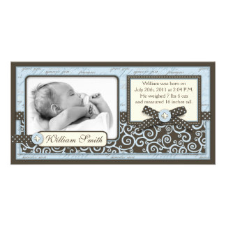 Teeny Toes BLU Announcement Card Picture Card