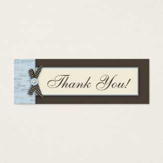 Teeny Toes BLU TY Skinny Gift Tag Mini Business Card