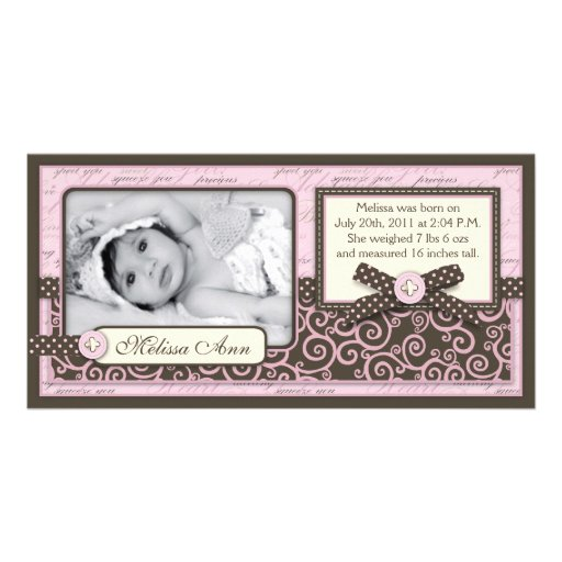 Teeny Toes PNK Announcement Card Photo Cards