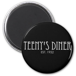 Teeny's Diner 6 Cm Round Magnet