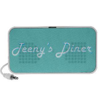 Teeny's Diner Logo iPod Speakers