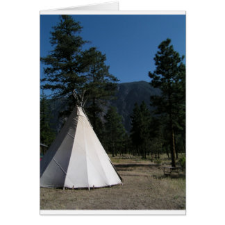 Teepee in the mountains card