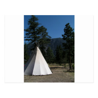 Teepee in the mountains postcard