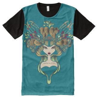 Teeshirt all over Mélusine bleu canard All-Over Print T-Shirt