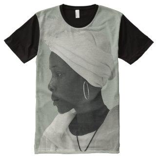Teeshirt all over vintage black girl kaki clair All-Over print T-Shirt