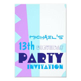 Teeth of the Monster 13th Birthday Party Invitatio 9 Cm X 13 Cm Invitation Card