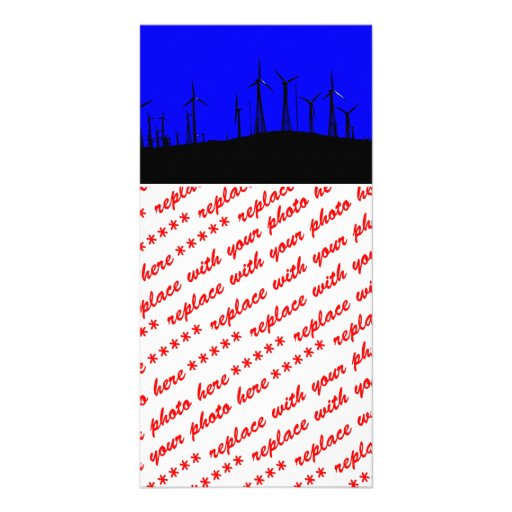 Tehacapi Wind Farm Silhouette (1) Picture Card
