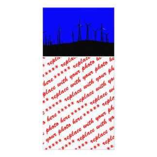 Tehacapi Wind Farm Silhouette 1 Picture Card