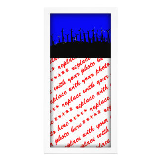 Tehacapi Wind Farm Silhouette (2) Photo Card Template