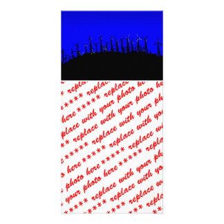 Tehacapi Wind Farm Silhouette 2 Customized Photo Card