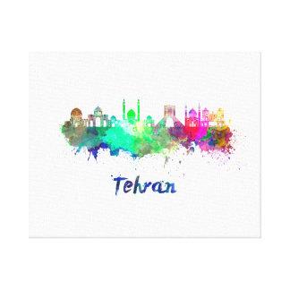 Tehran skyline in watercolor canvas print