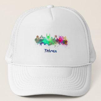 Tehran skyline in watercolor trucker hat