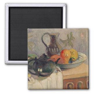 Teiera, Brocca e Frutta, 1899 Square Magnet