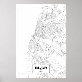 Tel Aviv, Israel (black on white) Poster