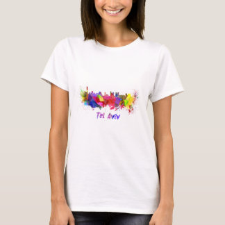 Tel Aviv skyline in watercolor T-Shirt