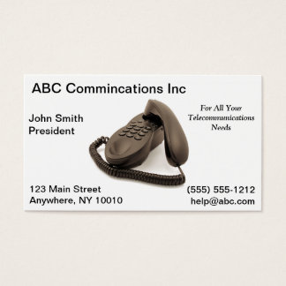 Telecommuncations Business Card