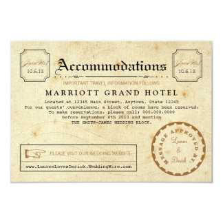 Telegram Hotel Accommodation Travel Insert Card