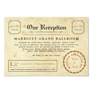 Telegram Reception After Party Travel Insert Card 9 Cm X 13 Cm Invitation Card