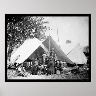 Telegraph Officers at Bealeton, VA 1863 Poster