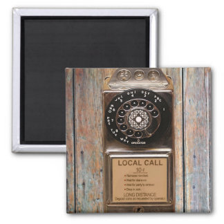 Telephone antique rotary pay phone steampunk booth square magnet