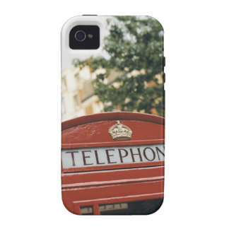 Telephone booth in London England iPhone 4 Covers