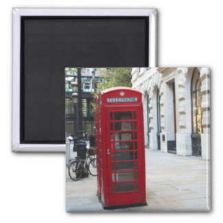 Telephone booth square magnet