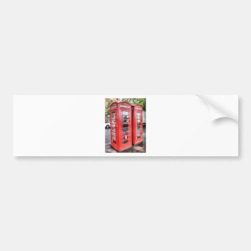 Telephone box bumper sticker