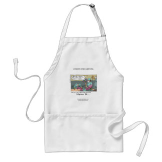 Telephone Code Blue Cartoon Funny Apron Aprons