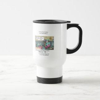 Telephone Code Blue Cartoon Funny Travel Mug Mug