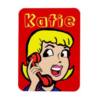 Telephone Girl Comic Strip Flexi Magnet
