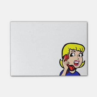 Telephone Girl Comic Strip Notes