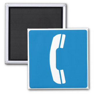 Telephone Highway Sign Square Magnet