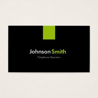 Telephone Operator Modern Mint Green Business Card