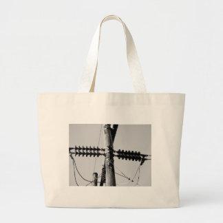 Telephone Poles Jumbo Tote Bag